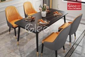 Bộ bàn ăn bọc da cao cấp - GBA59
