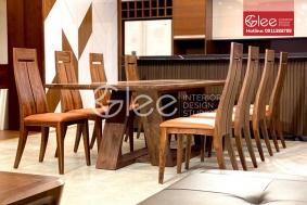 Bộ bàn ăn gỗ óc chó đẹp cao cấp - GBA58