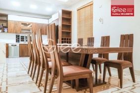 Bộ bàn ăn gỗ óc chó tự nhiên - GBA57