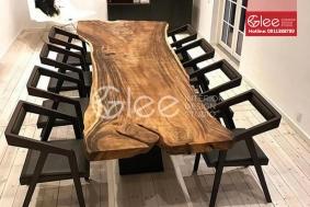 Bộ bàn ăn gỗ sồi 8 ghế cao cấp - GBA56