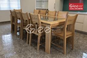 Bộ bàn ăn 10 ghế gỗ Tần Bì - GBA54