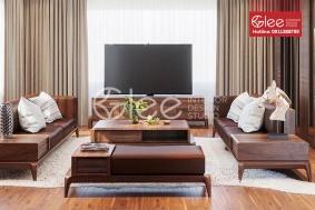 Bộ bàn ghế sofa gỗ óc chó hiện đại GSG51