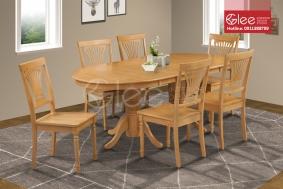 Bộ bàn ăn gỗ sồi GBA05