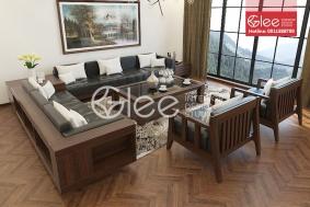 Bàn ghế sofa gỗ phòng khách GSG31