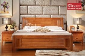 Mẫu giường ngủ gỗ tự nhiên GPN37
