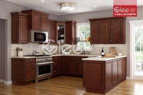 Tủ bếp gỗ xoan đào đẹp GTB27