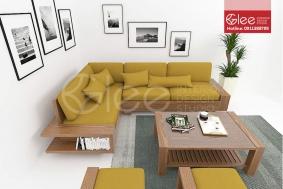 Sofa gỗ sồi Mỹ GSG10