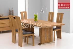 Bàn ăn gỗ Sồi Nga hiện đại-GBA38