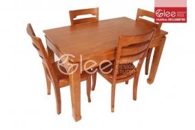 Bàn ghế ăn gỗ gõ đỏ cao cấp-GBA41
