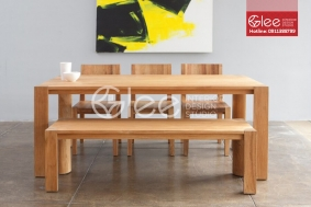 Bàn ghế ăn gỗ Sồi Mỹ đẹp-GBA43
