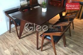 Bộ bàn ăn đẹp hiện đại gỗ tự nhiên - GBA52