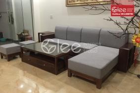 Bộ bàn ghế sofa gỗ sồi nga sang trọng - GSG40