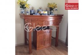 Bộ bàn thờ gỗ Gõ Đỏ 153 đẹp - GTT40