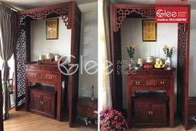Bộ bàn thờ gỗ tràm đẹp giá rẻ GTT34