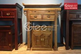 Tủ thờ gỗ gụ cho chung cư hiện đại GTT23 - bàn thờ chung cư gỗ gụ