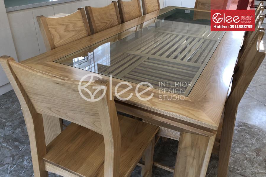 bộ bàn ăn gỗ tần bì