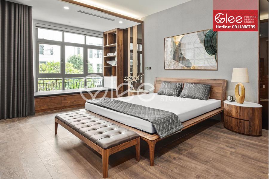 giường ngủ gỗ óc chó cao cấp