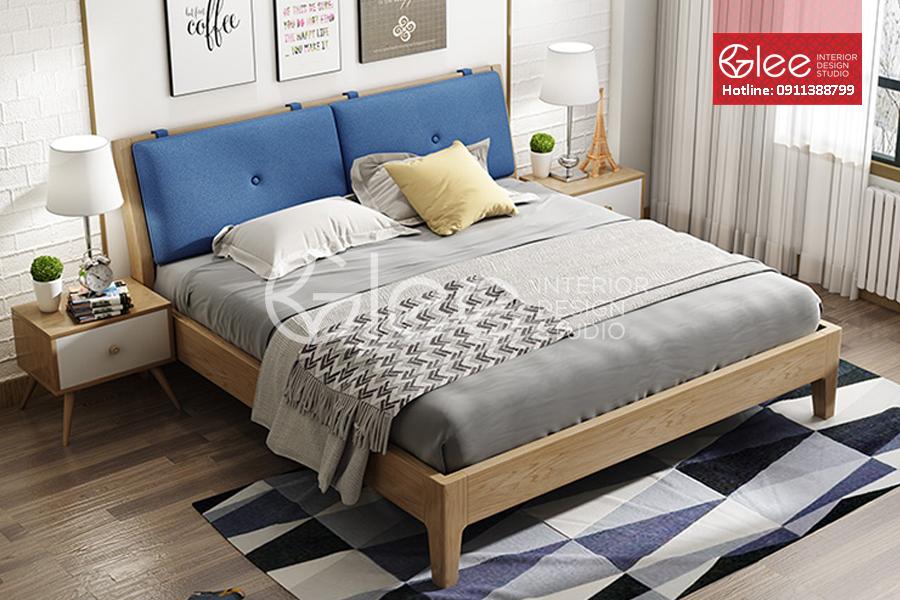 Bộ giường ngủ gỗ sồi nga nhập khẩu GPN45