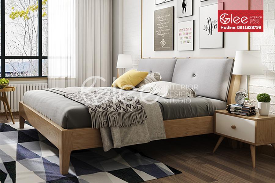 bộ giường ngủ gỗ sồi nga