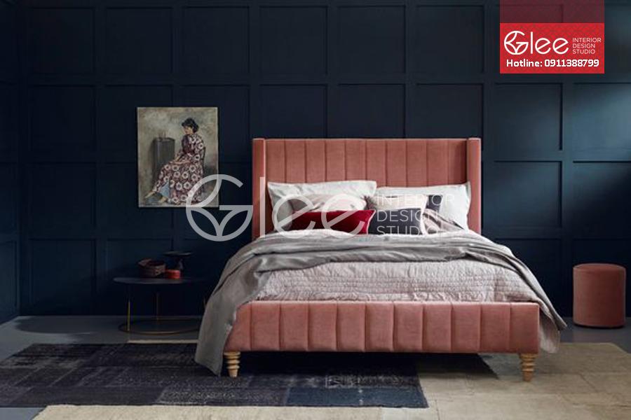 Giường ngủ bọc nệm nỉ sang trọng cá tính GPN51