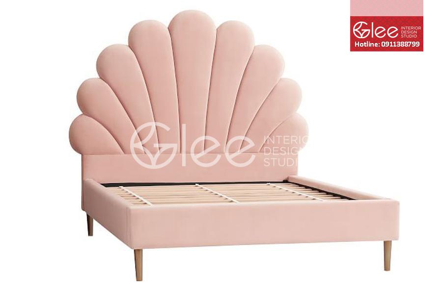 giường ngủ bọc nỉ công chúa