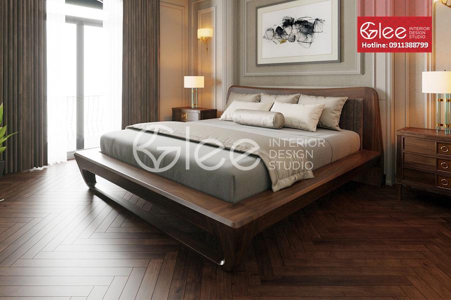 Giường ngủ gỗ óc chó đẹp cao cấp - GPN54