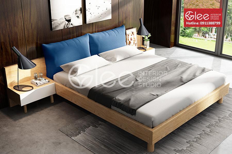 Giường ngủ gỗ tần bì hiện đại GPN46