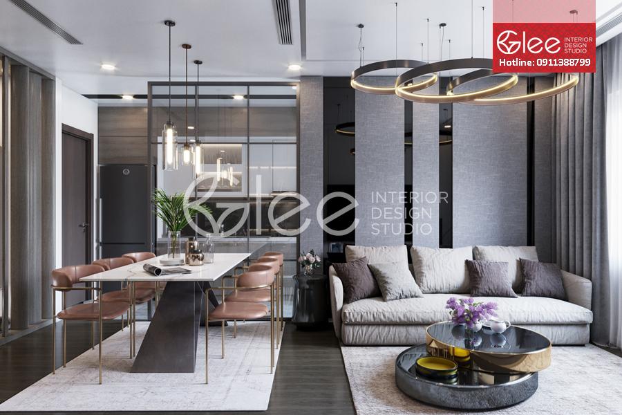 Thiết kế nội thất chung cư nhỏ 54m2  Smart City - Tây Mỗ
