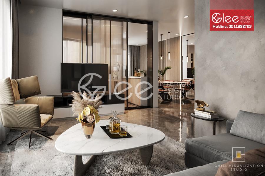 Thiết kế nội thất chung cư 75m2 phong cách hiện đại