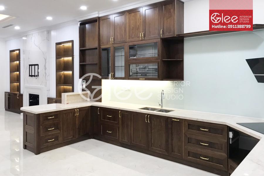 Phòng bếp thiết kế hoàn thiện
