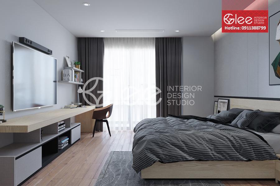 Thiết kế nội thất phòng ngủ chung cư cao cấp 6th