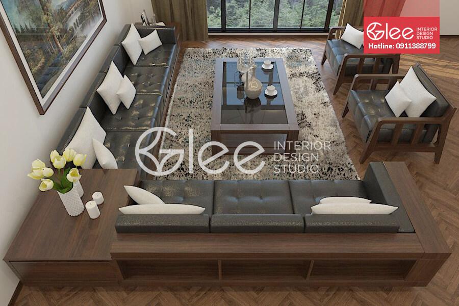 sofa gỗ óc chó cao cấp