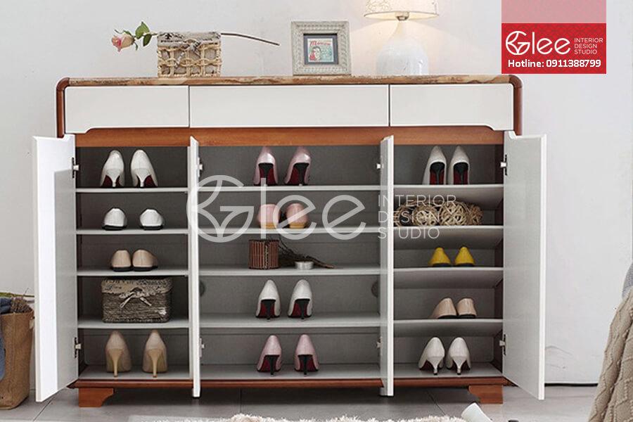 tủ giày phòng khách đẹp, tu giay phong khach dep