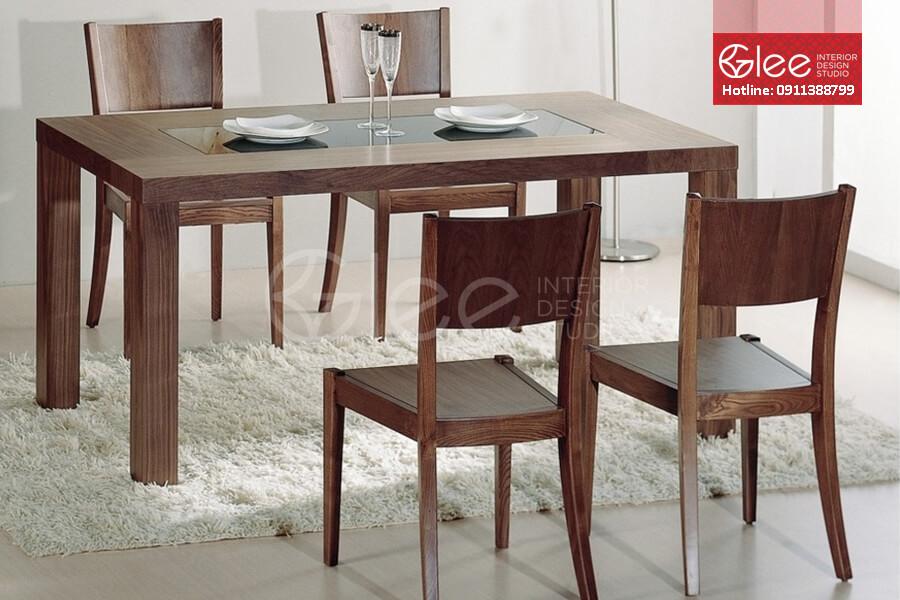 bàn ghế ăn gỗ óc chó cao cấp