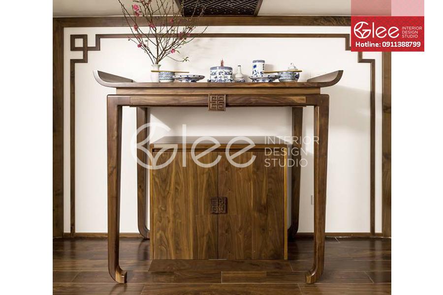 Bàn thờ cao cấp gỗ Óc Chó - GTT43