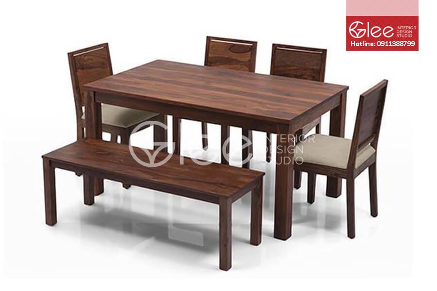bộ bàn ăn gỗ óc chó