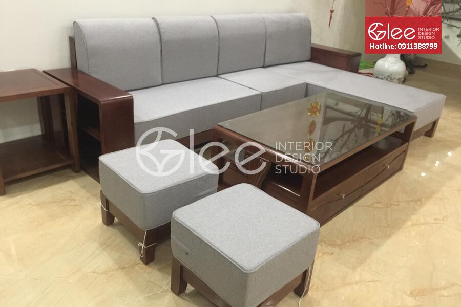 bàn ghế sofa gỗ sồi nga