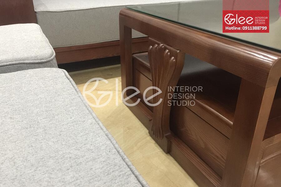 bàn ghế sofa gỗ sồi nga hiện đại