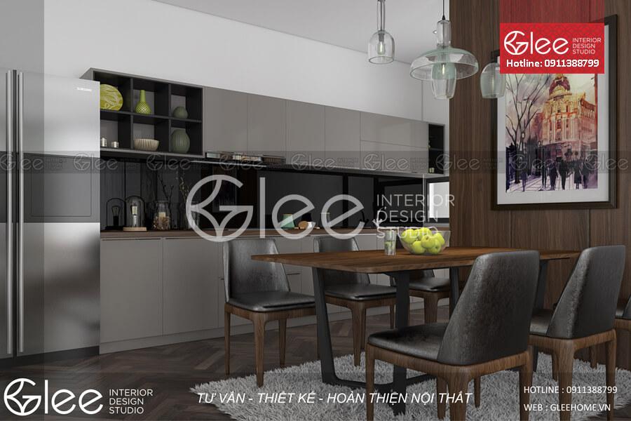 [Giải Pháp] Thiết kế bếp chung cư nhỏ đẹp nhất tại Hà Nội