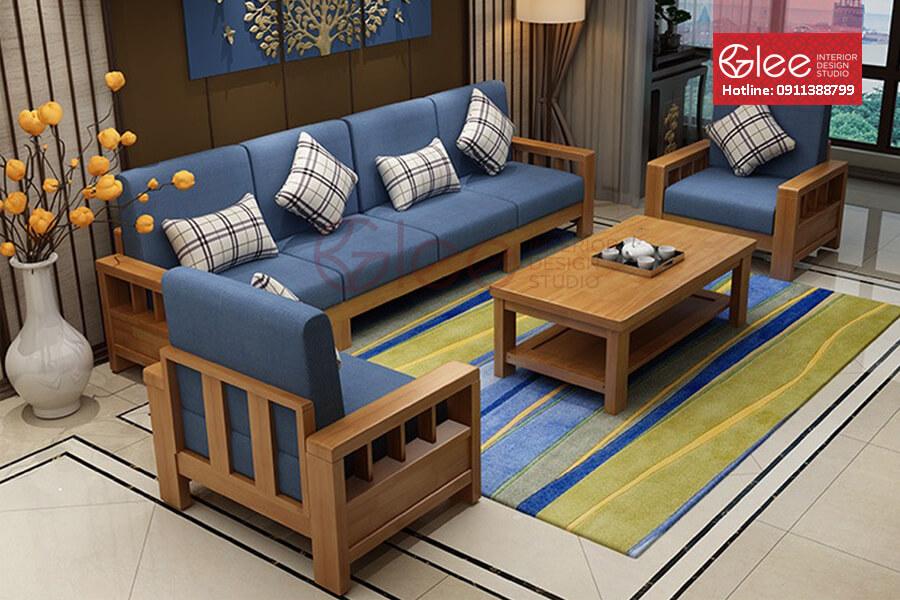 sofa gỗ phòng khách, sofa gỗ đẹp
