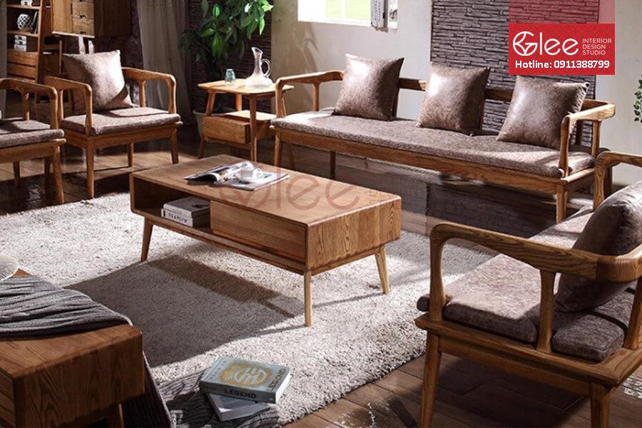 Nhung mau sofa go dep - Sofa gỗ phòng khách GSG19.