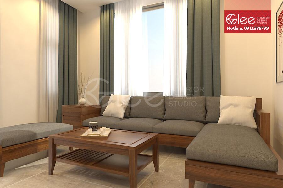 Ghe sofa go dang cap - Sofa gỗ phòng khách GSG24.