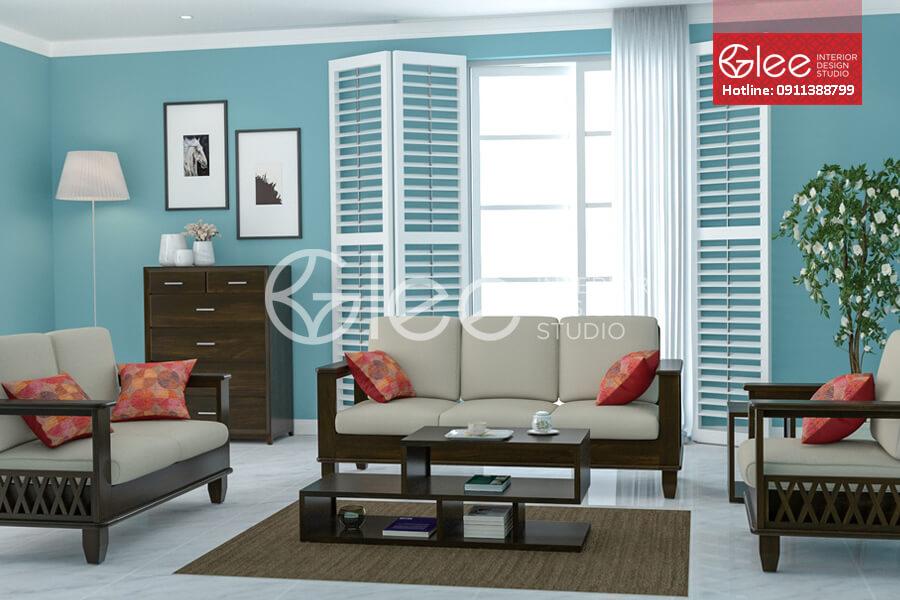 Sofa go phong khach - Sofa phòng khách GSG33.