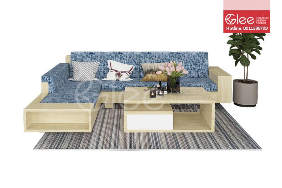 Sofa go phong khach hien dai - Sofa gỗ phòng khách GSG21.