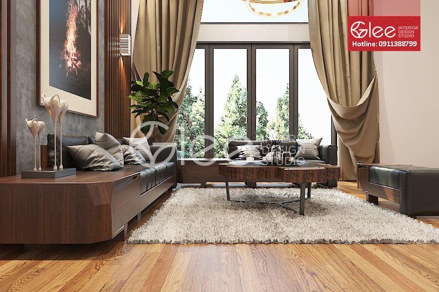 bàn ghế sofa gỗ óc chó GSG39