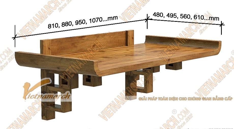 Kích thước bàn thờ treo