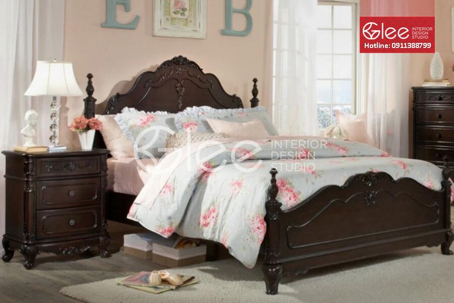 giường ngủ đẹp tân cổ điển gpn23