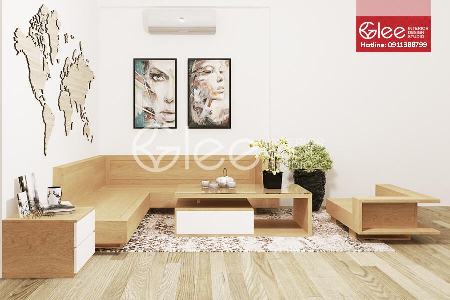 Ghe sofa go hien dai - Sofa gỗ phòng khách GSG18.